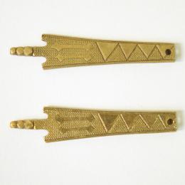 Set of two medieval belt strapends, Poland EX09