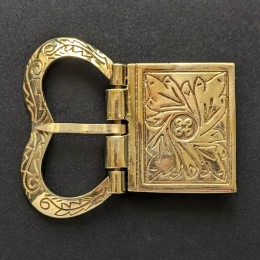 Medieval buckle with mount, England EK180