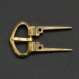 Medieval buckle with attachment fork, England E11-2