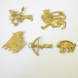 Set of 5 medieval pilgrim badges