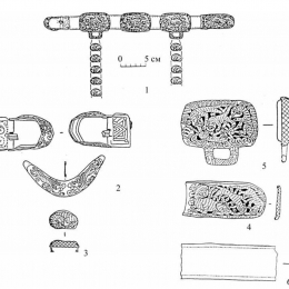Mongol-Tatar Belt set from Olen-Kolodez