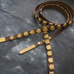 Rus leather belt from Elets monastery, Chernigov   RBS07X