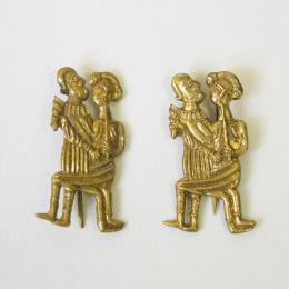 2 x m66 Medieval carnival badge