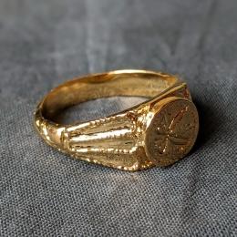 Medieval stamp ring ER03