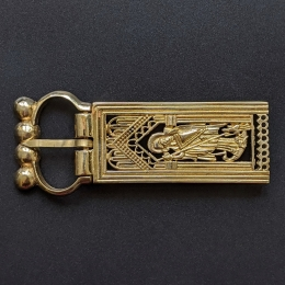 Medieval buckle with mount, Scandinavia EK120
