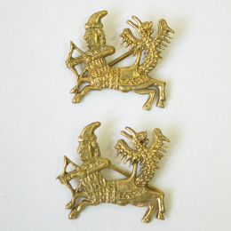 2 x m83 Medieval pilgrim badge