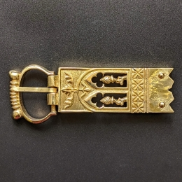 Medieval buckle with mount, England EK80