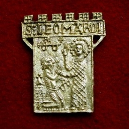 m58 Medieval piligrim badge