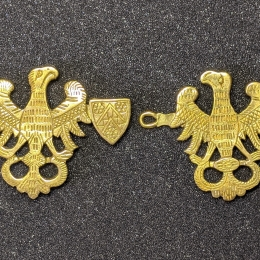 Medieval cape clasps, Germany EA24 by ArmourAndCastings
