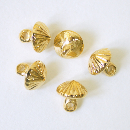 5 x Button Rus rb03, gold plated