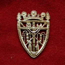 m74 Medieval piligrim badge