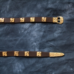 Scandinavian leather belt, Birka, 10c   RBS02RN16
