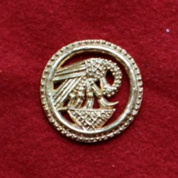 "m75 ""Pelican in her piety"" Medieval piligrim badge"
