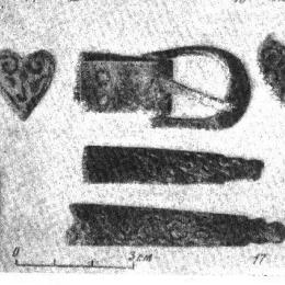 RH14 Rus belt strapend from Novgorod, 13-14 c.